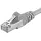 Premiumcord Patch CAT6a S-FTP, AWG 26/7 5m šedá