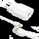FIXED síťová nabíječka s odnímatelným Lightning kabelem, 2,4A, bílá