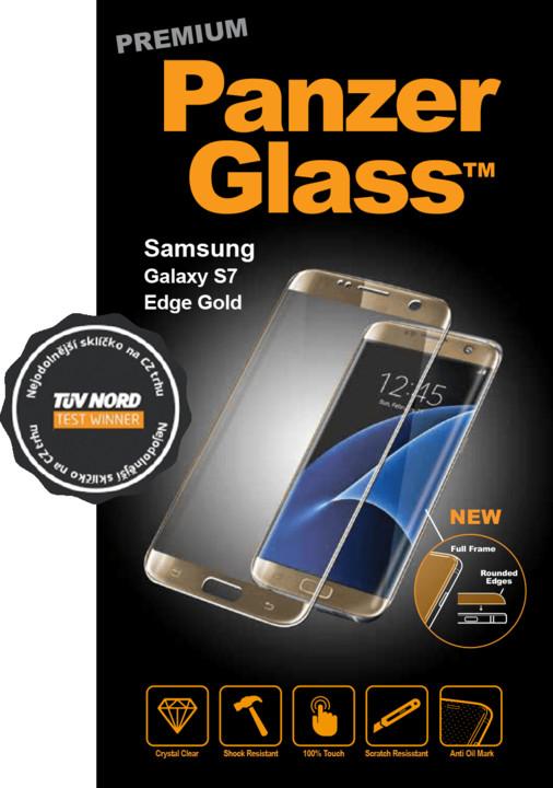 PanzerGlass Premium pro Samsung Galaxy S7 Edge zlaté + pouzdro