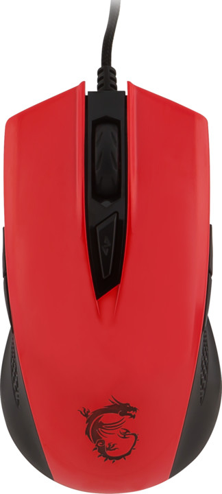 MSI Clutch GM40, červená