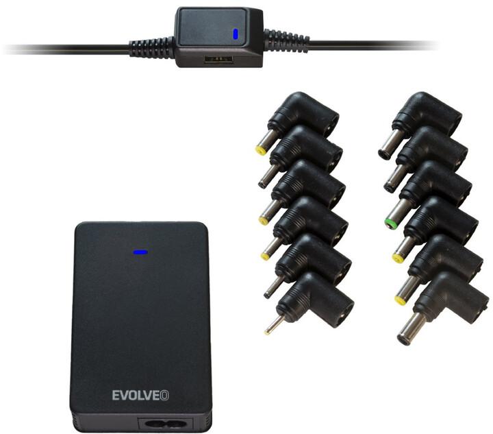 Evolveo Chargee B70, 70W napájecí zdroj pro notebooky