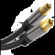PremiumCord kabel Toslink, M/M, průměr 6mm, pozlacené konektory, 1m, černá