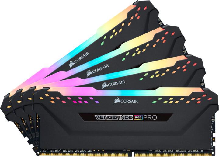 Corsair Vengeance RGB PRO 32GB (4x8GB) DDR4 3600 CL16, černá