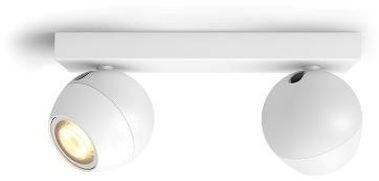 Philips Hue White Ambiance Bodové svítidlo Buckram BT 50472/31/P6 bílé s ovladačem