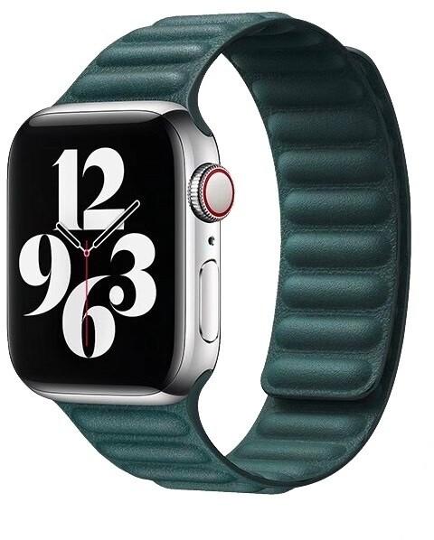 COTEetCI kožený řemínek pro Apple Watch, 38/40mm, zelená