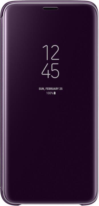 Samsung flipové pouzdro Clear View se stojánkem pro Samsung Galaxy S9, fialové