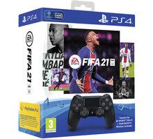 Sony PS4 DualShock 4 v2, černý + FIFA 21 - PS719834724