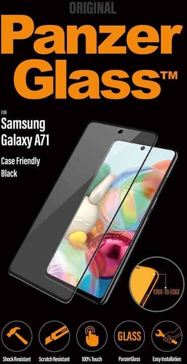PanzerGlass Edge-to-Edge pro Samsung Galaxy A71, černá