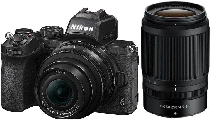 Nikon Z 50 + 16-50mm DX + 50-250mm DX