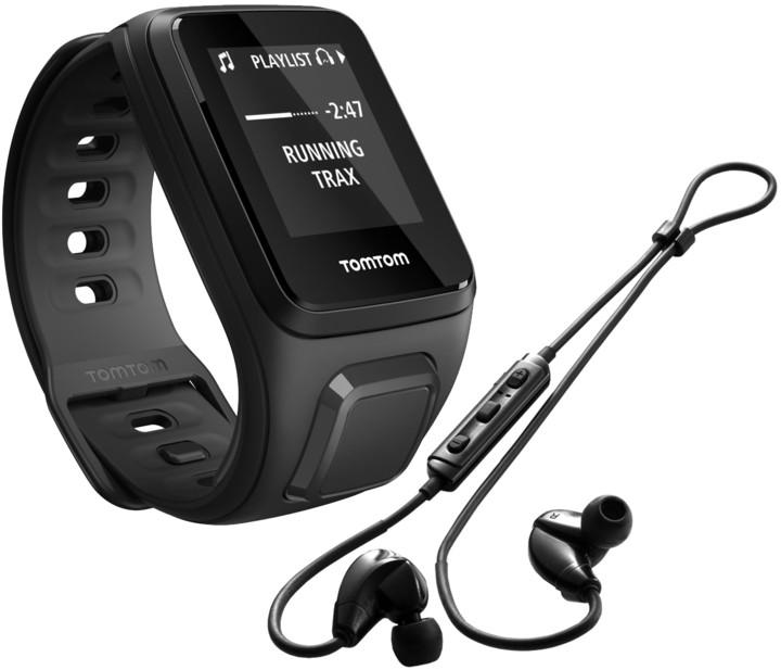 TOMTOM Spark Fitness Music (S), černá + bluetooth sluchátka