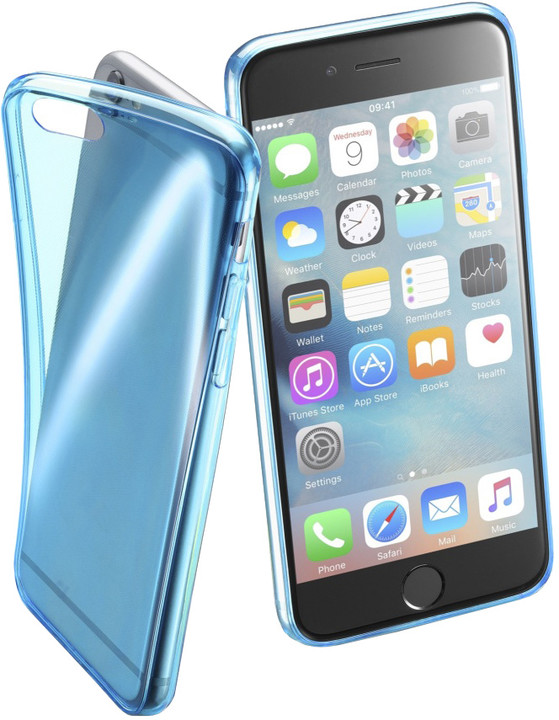CellularLine FLUO barevné gelové pouzdro pro Apple iPhone 6/6S, modré