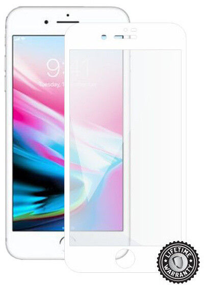 Screenshield ochrana displeje Tempered Glass pro Apple iPhone 8 Plus, bílá
