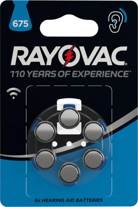 VARTA Rayovac 675 baterie do naslouchadel, 6ks