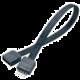 Akasa prodlužovací pásek RGB 4pin(M) na 4pin(F) (AK-CBLD01-20BK), 20 cm