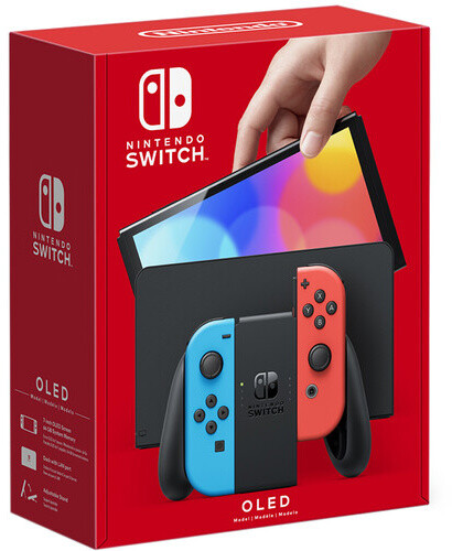 Nintendo Switch – OLED Model, červená/modrá