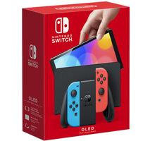 Nintendo Switch – OLED Model, červená/modrá 500 Kč sleva na příští nákup nad 4 999 Kč (1× na objednávku)