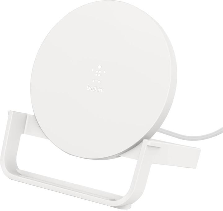 Belkin stojánek s bezdrátovým nabíjením, Qi, 10W, bílá
