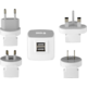 YENKEE YAT 202 Cestovní adaptér USB 3.5A  + SLL 53 ČELOVKA PROFI 3WATT 3xAAA SENCOR (v ceně 439 Kč)