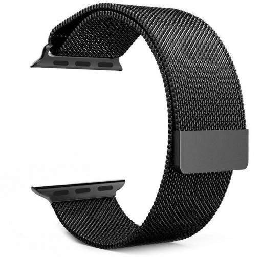 Tactical 333 kovový řemínek Loop pro Apple Watch 1/2/3/4/5/6/SE, magnetický, 38/40mm, černá