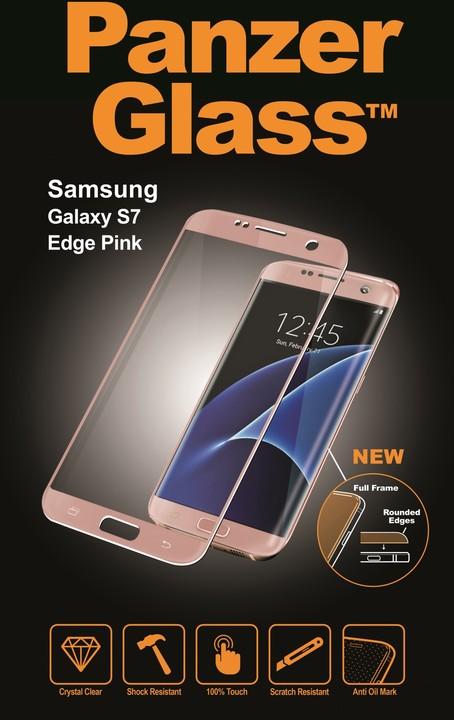 PanzerGlass Premium pro Samsung Galaxy S7 Edge, ružové