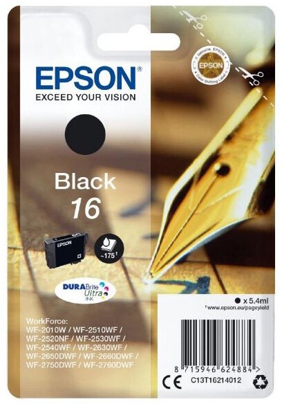 Epson C13T16214012, Durabite 16, černá