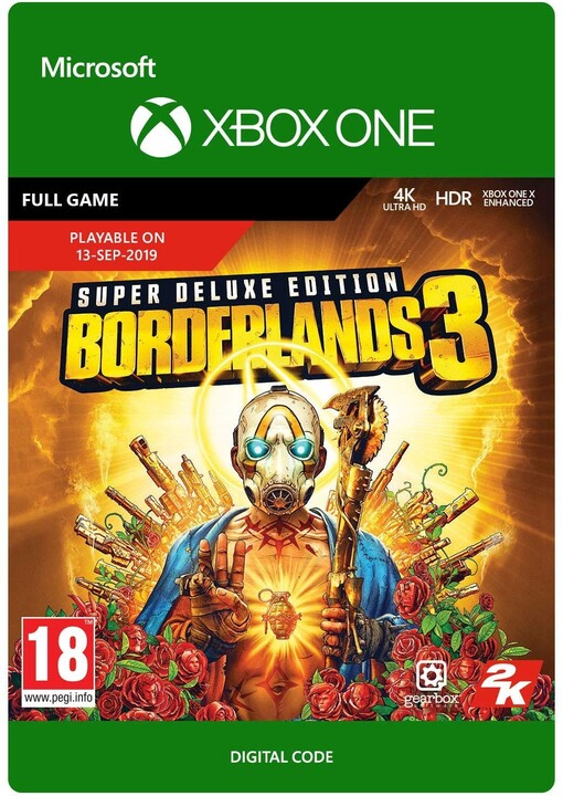 Borderlands 3: Super Deluxe Edition (Xbox ONE) - elektronicky