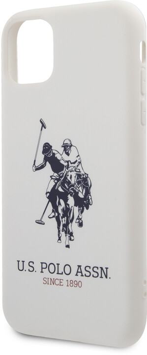U.S. Polo silikonový kryt Big Horse pro iPhone 11 Pro, bílá