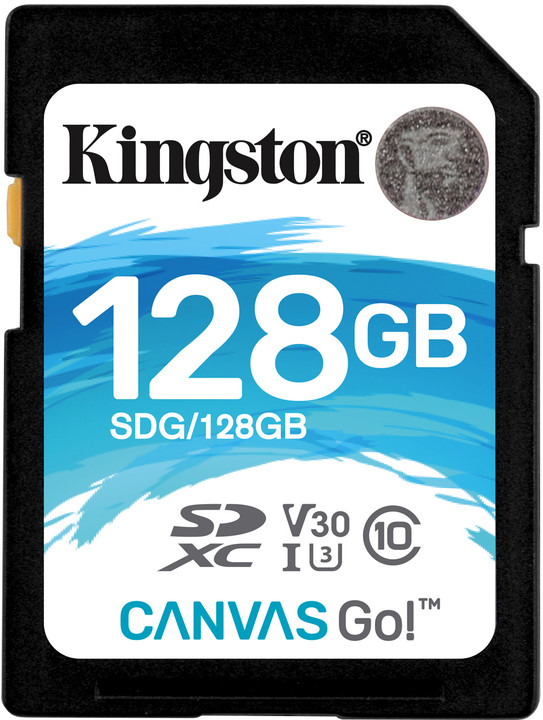 Kingston SDXC Canvas Go! 128GB, USH-I U3