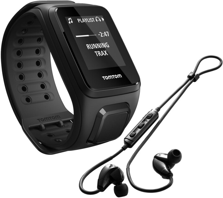 TOMTOM Spark Fitness Music (L), černá + bluetooth sluchátka