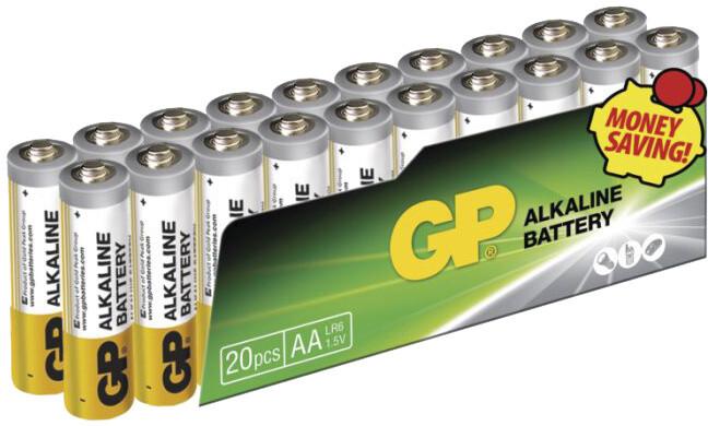 GP AA, alkalická - 20 ks, fólie