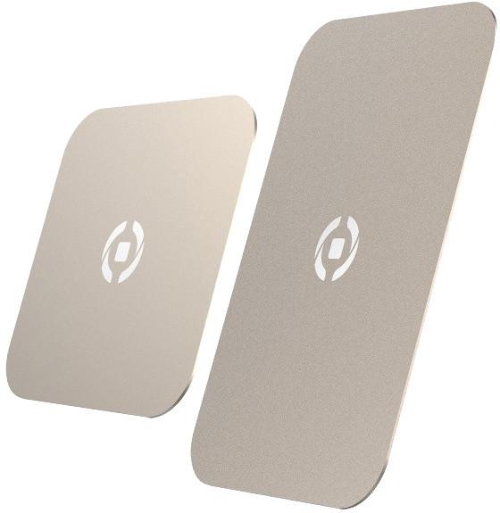 CELLY GHOSTPLATE Plíšky kompatibilní s magnetickými držáky pro mobilní telefony, zlatý