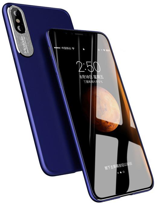 Mcdodo iPhone X Sharp Aluminum Alloy Case (Aluminum Alloy + PC), Blue