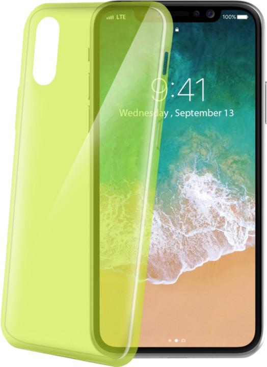 CELLY TPU pouzdro Ultrathin pro Apple iPhone X, světle zelené