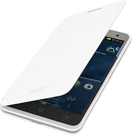 Acer pouzdro pro Liquid Z520, flip cover, bílá