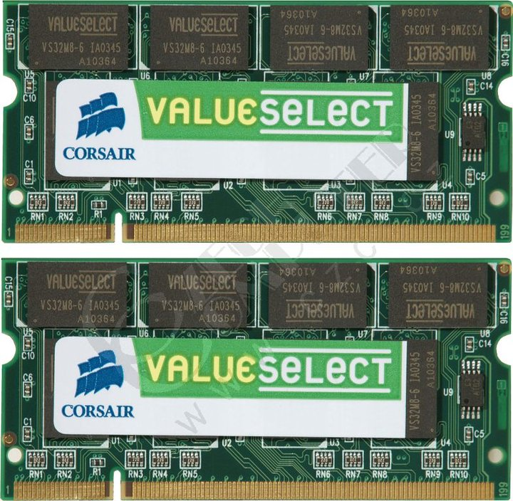 8e51bd705c Corsair Value 2GB (2x1GB) DDR2 667 (S2GSDSKIT667D2) SO-DIMM ...