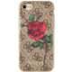 GUESS 4G Flower Desire zadní kryt pro iPhone 7/8, Brown