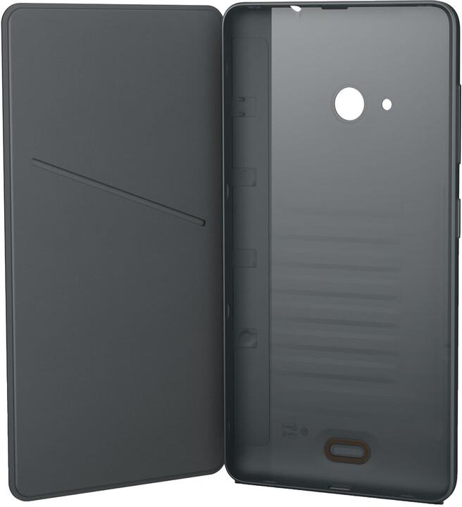 Nokia CC-3092 pouzdro s klopou pro Microsoft Lumia 535, tmavě šedá