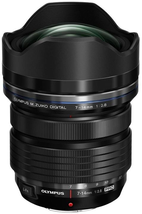 Olympus M. ZUIKO DIGITAL 7-14mm f/2.8 PRO, černá