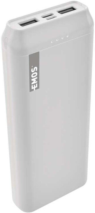 Emos Alpha 20 powerbanka, 20000 mAh + kabel USB-C, bílá