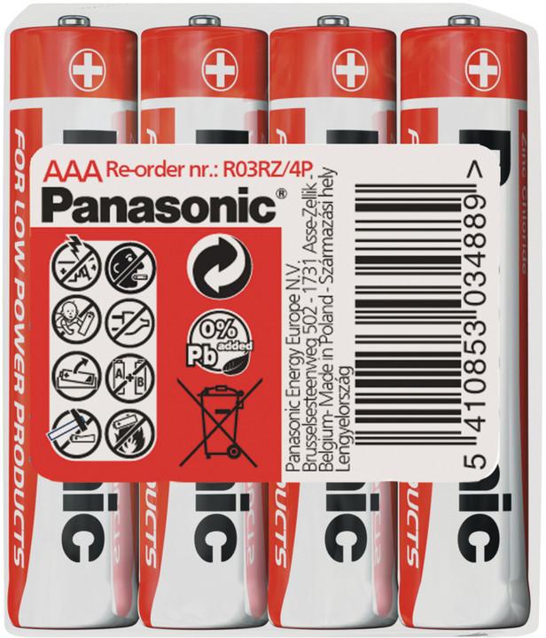 Panasonic baterie R03 4S AAA Red zn