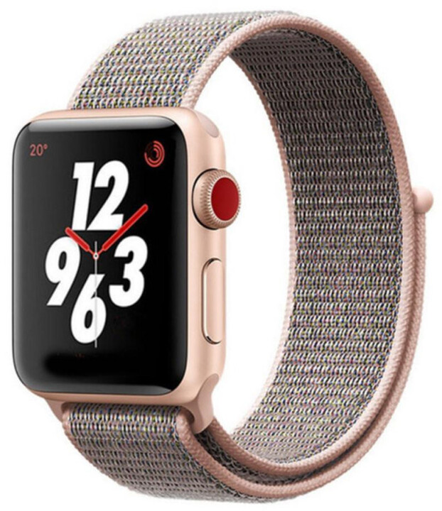 Tactical 529 látkový řemínek pro Apple Watch 1/2/3/4/5/6/SE, 38/40mm, zlatá