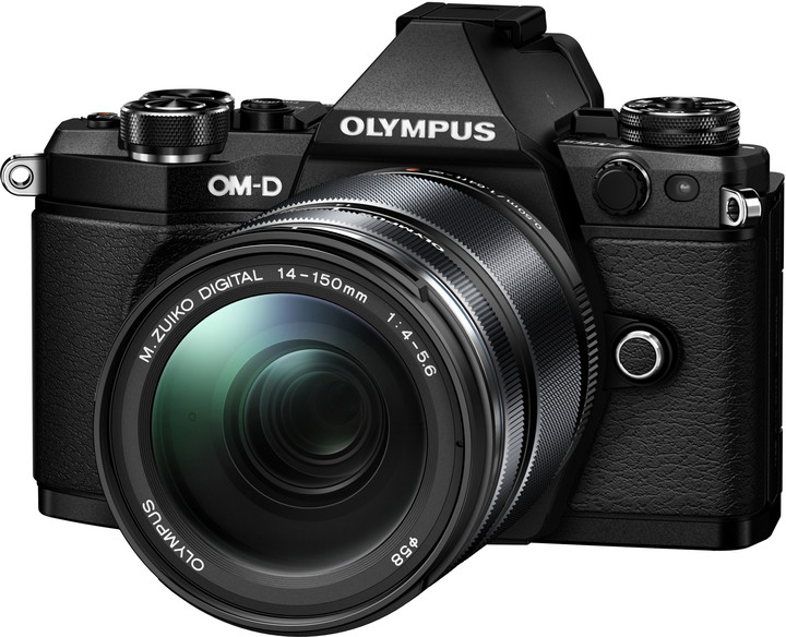 Olympus E-M5 Mark II + 14-150 II, černá/černá