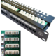 "DATACOM Patch panel, 19"", UTP 24x port Cat.5e, 1U, s vyvázáním"