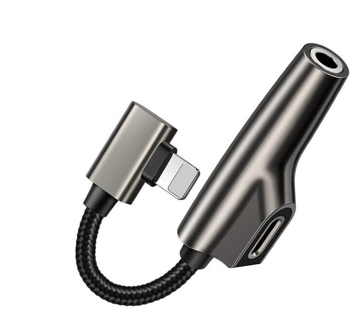 Mcdodo adaptér Milin Series Lightning - Lightning + audio 3.5mm, černá