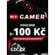 Voucher Be a Gamer - 5x 100 Kč (sleva na hry nad 999 Kč)