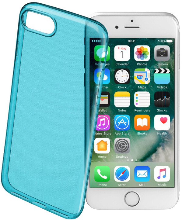 CellularLine COLOR barevné gelové pouzdro pro Apple iPhone 7, zelené