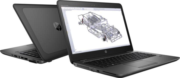 HP ZBook 14u G4, černá