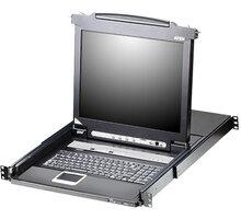 """ATEN CL1316N - 16-portový KVM switch (USB, PS/2 i VGA), 19"""" LCD, US klávesnice - CL1316N-ATA-2XK06A1G"""