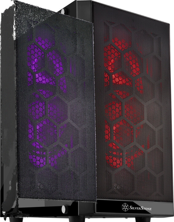 SilverStone Precision PS15B RGB, TG, černá