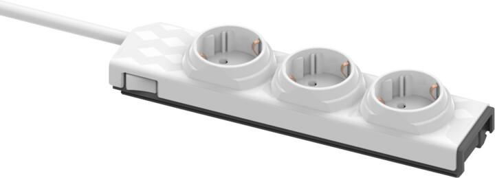 PowerCube modulární zásuvkový systém PowerStrip Modular Switch, 3 zásuvky, 1.5m, bílá